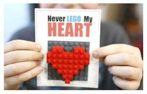 Printable DIY Lego Valentines Day Cards