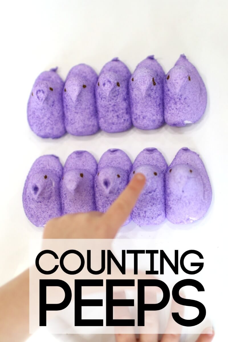 Counting Peeps Simple Easter Math Activity