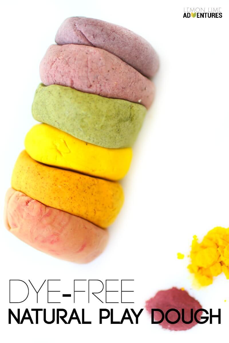 Dye Free Natural Play Dough Recipe and Many More Natural Doughs