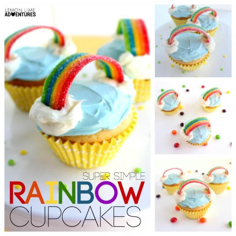 Super Simple Rainbow Cupcake Recipe