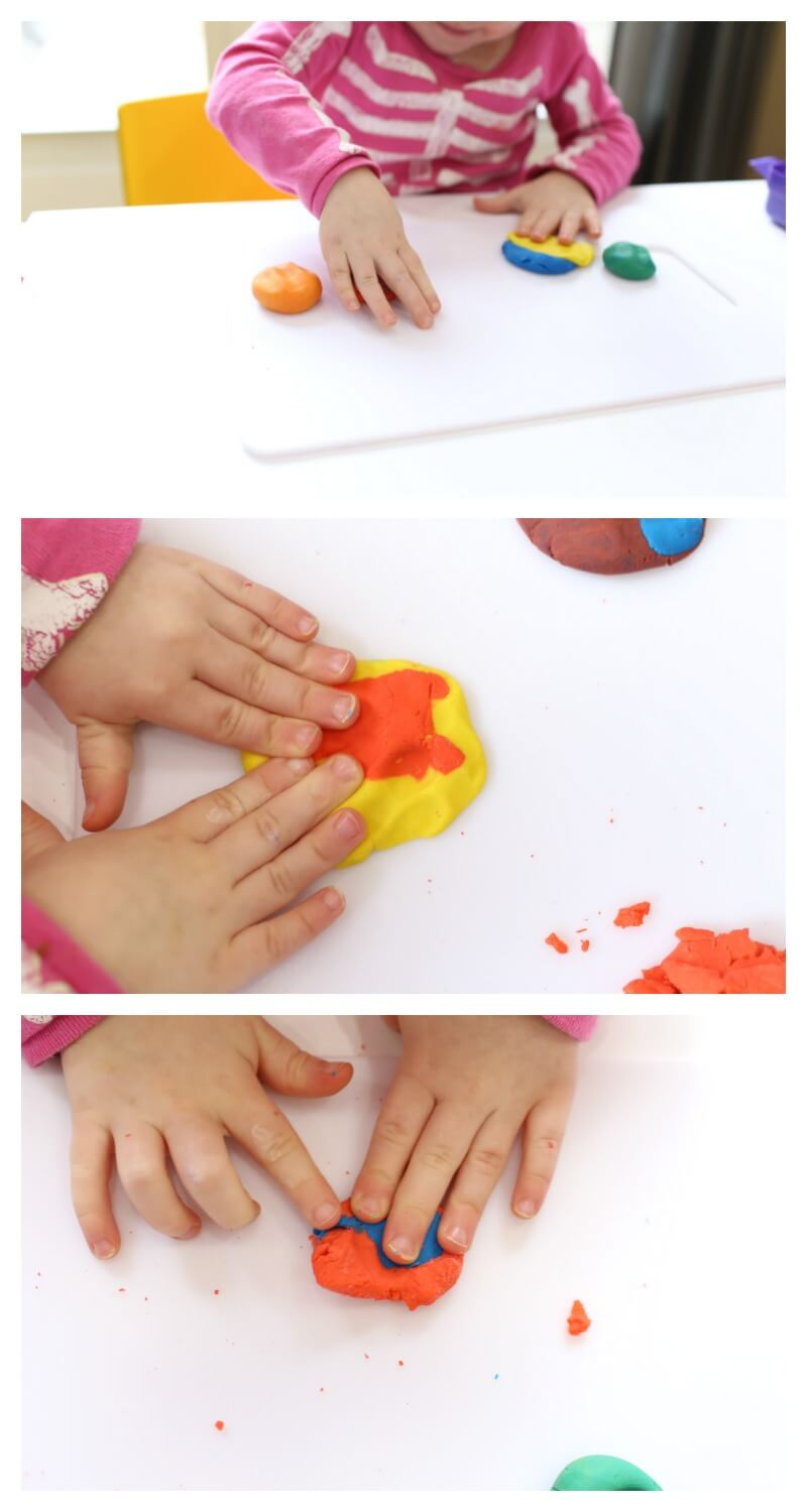 Toddler Color Activity with Play Dough