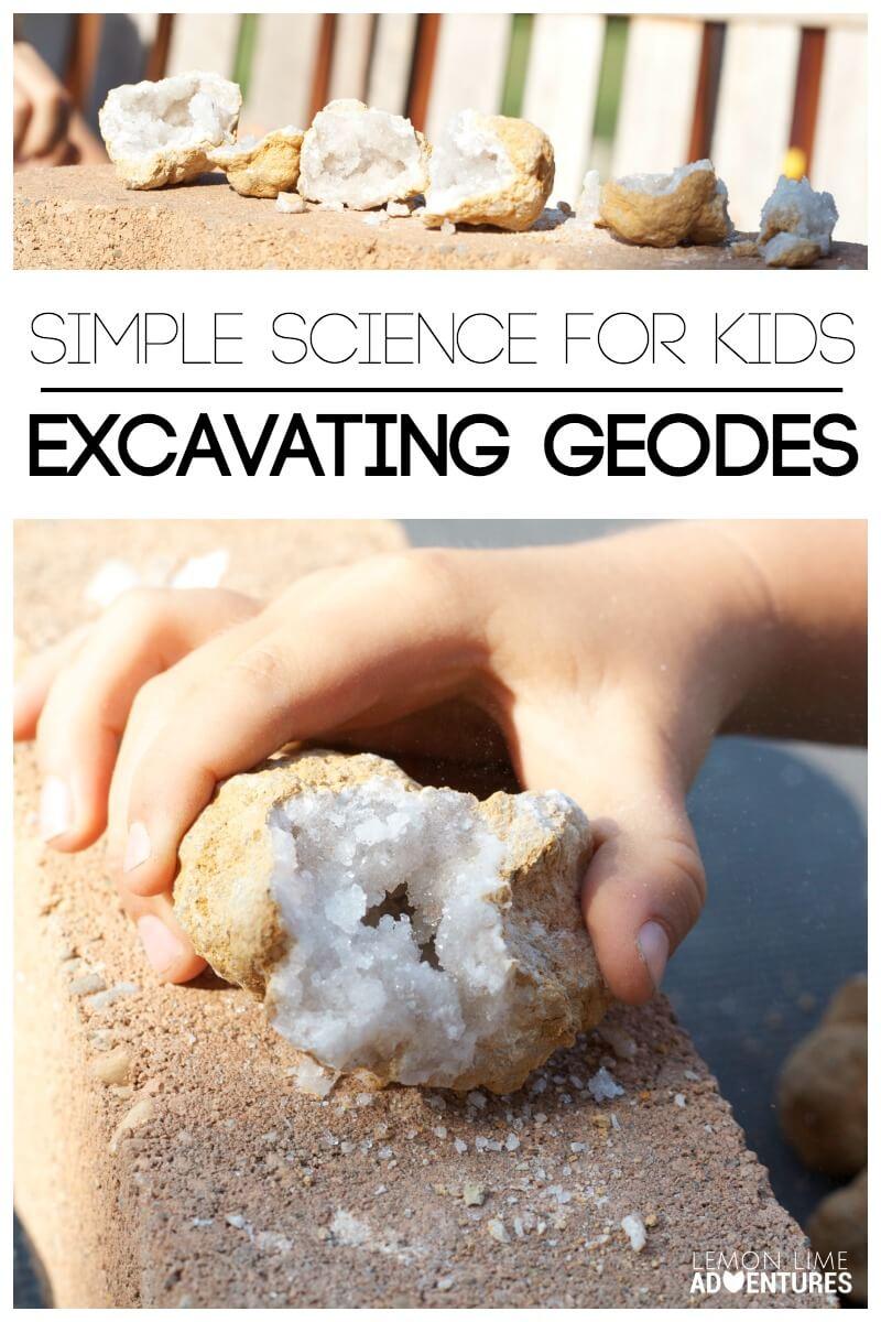 Excavating Geodes Simple Science for Kids