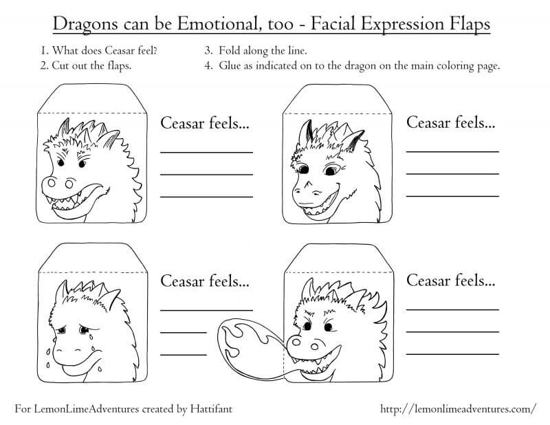 Dragon Emotions Printable