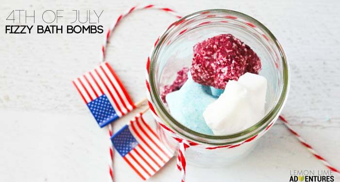 forth of july fizzy bath bombs fb
