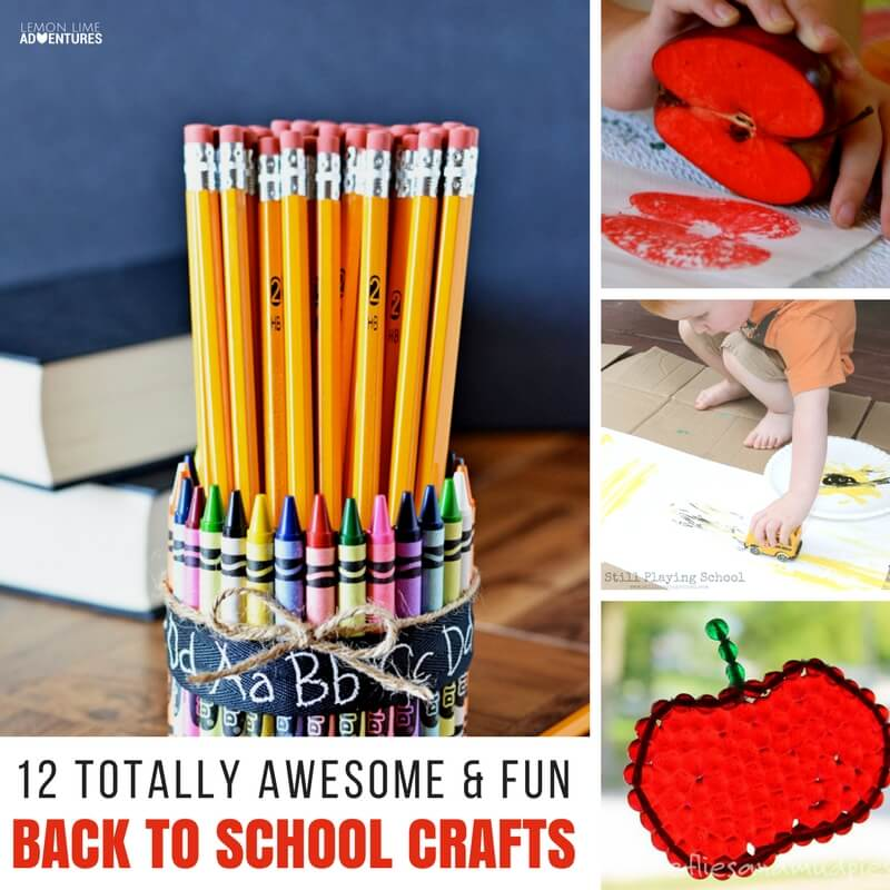 12 Totally Awesome & Fun Back to School Crafts