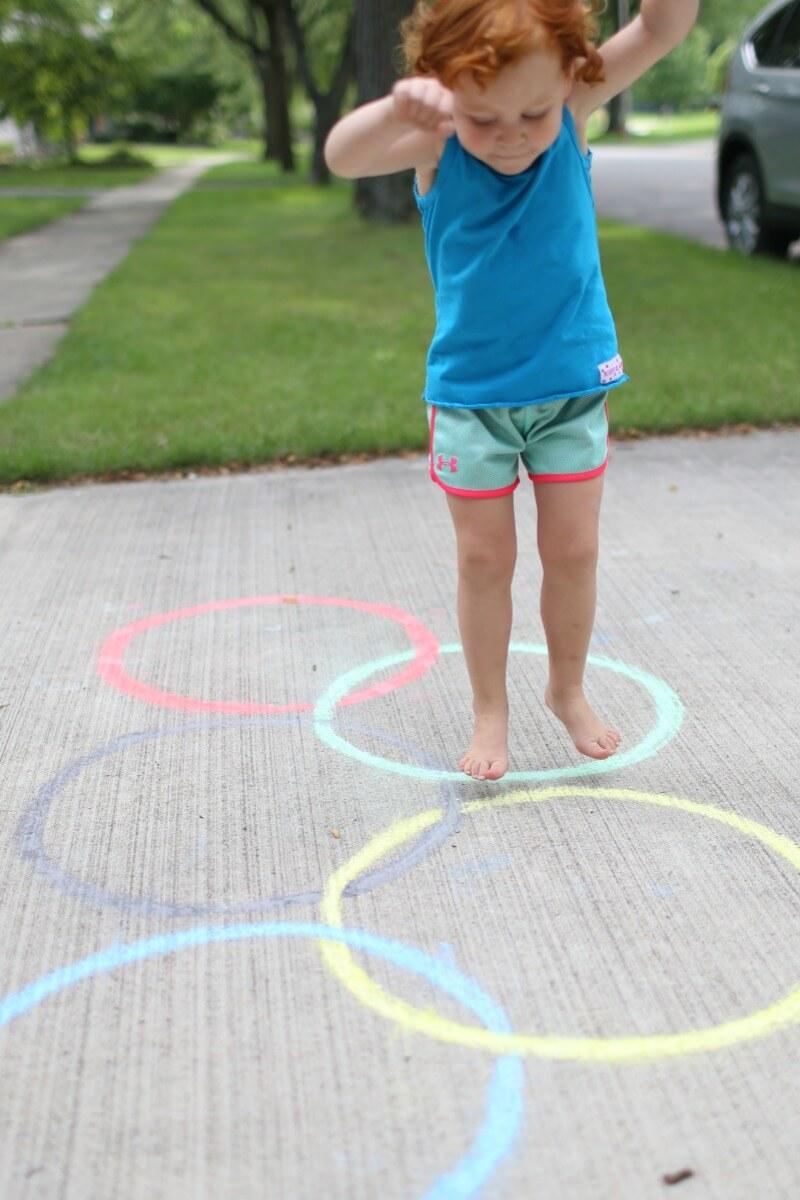 Jumping Toddler Olympics