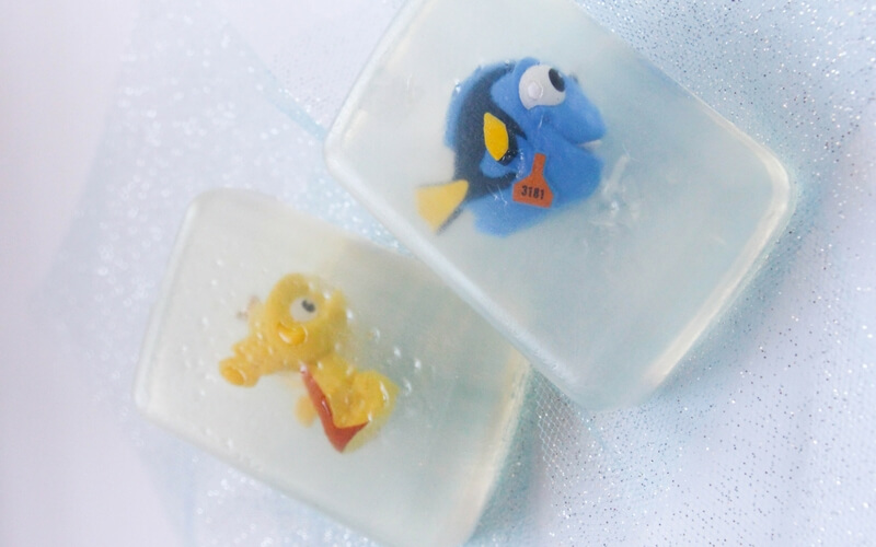 Totally awesome homemade Finding Dory soap!