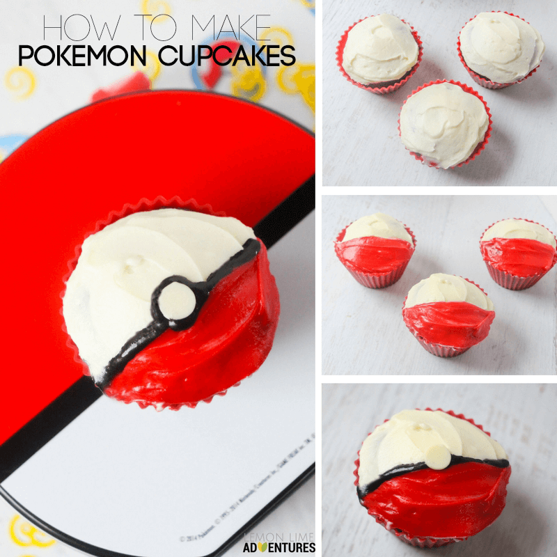 simple pokemon cupcakes