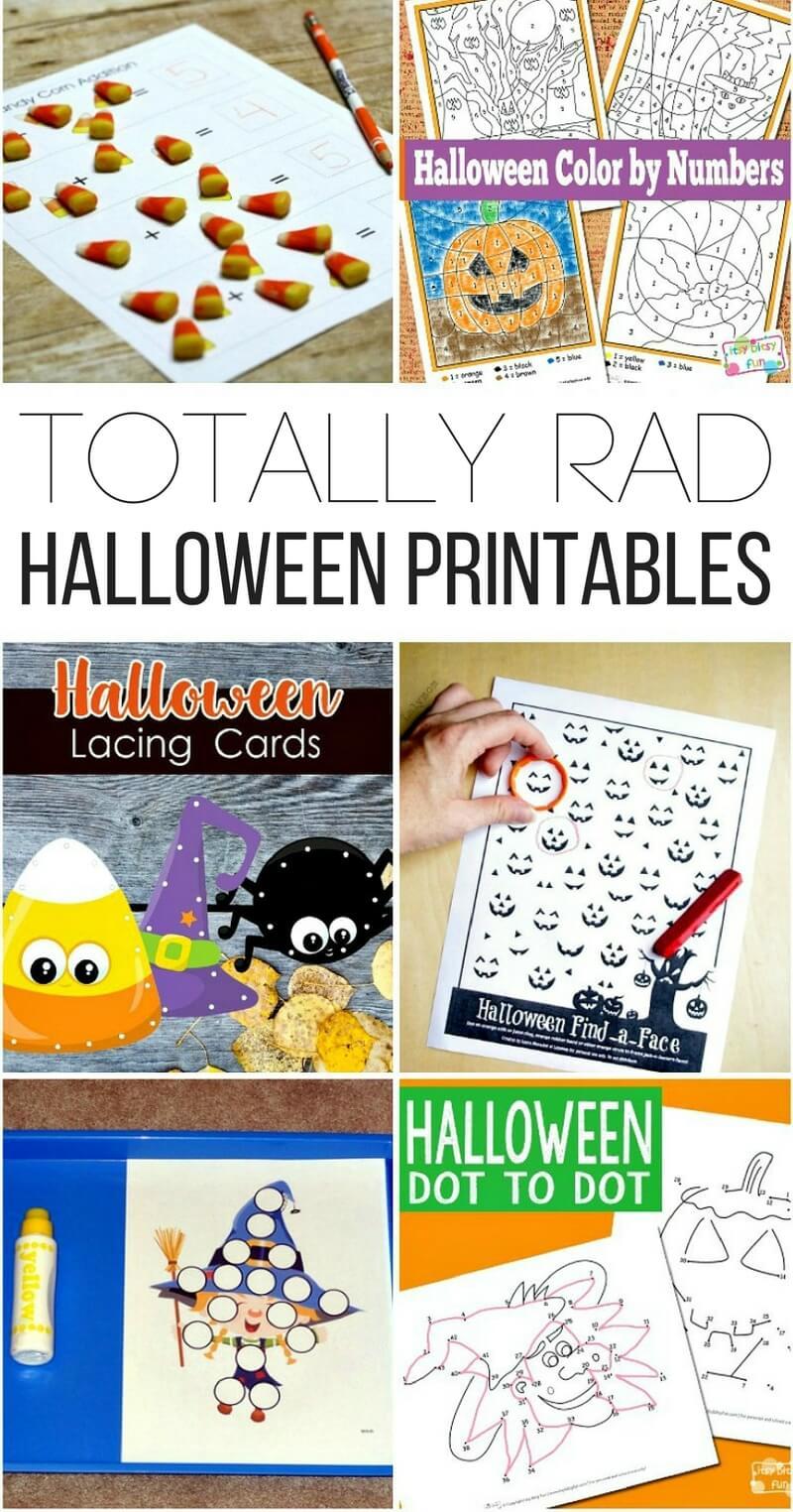Totally Rad Halloween Printables!