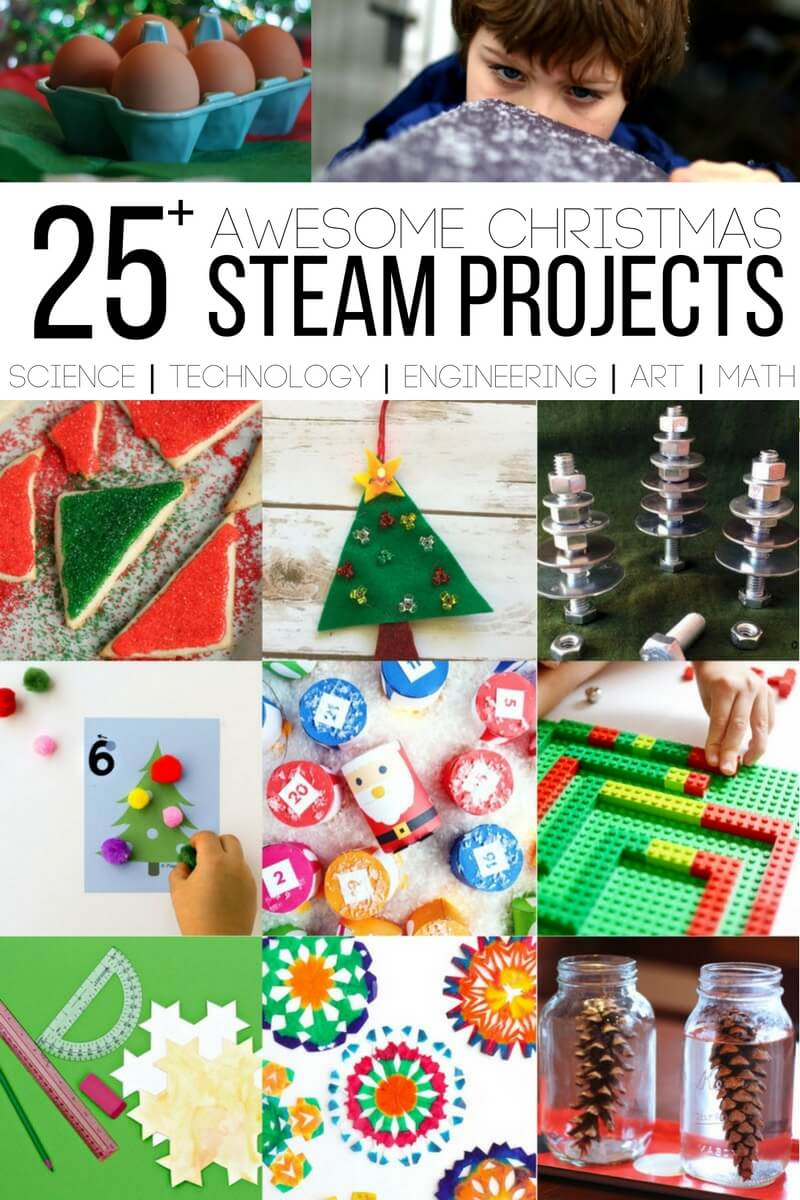 25 Christmas STEAM Projects for kids