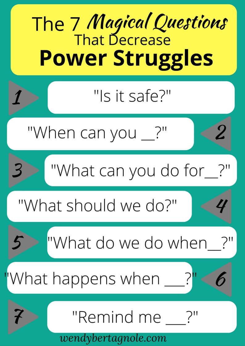 End Power Struggles