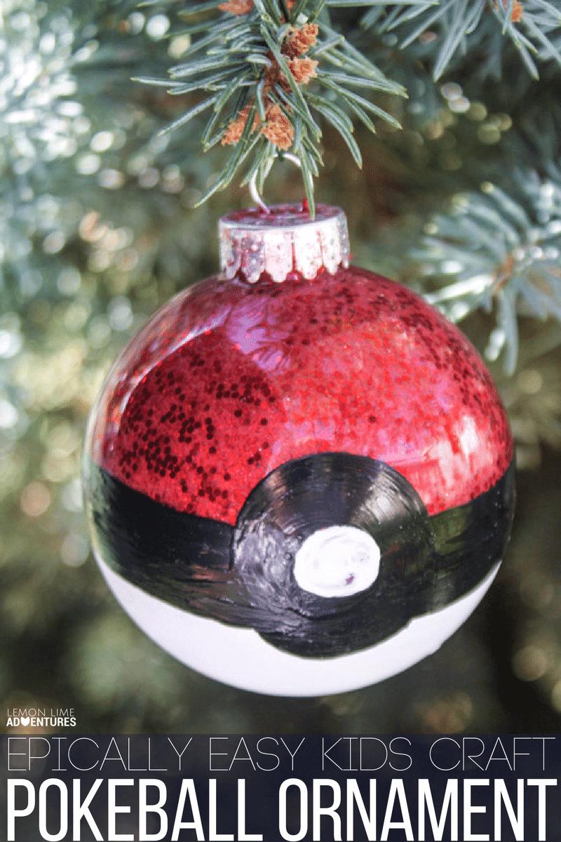 DIY Pokeball Christmas Ornament