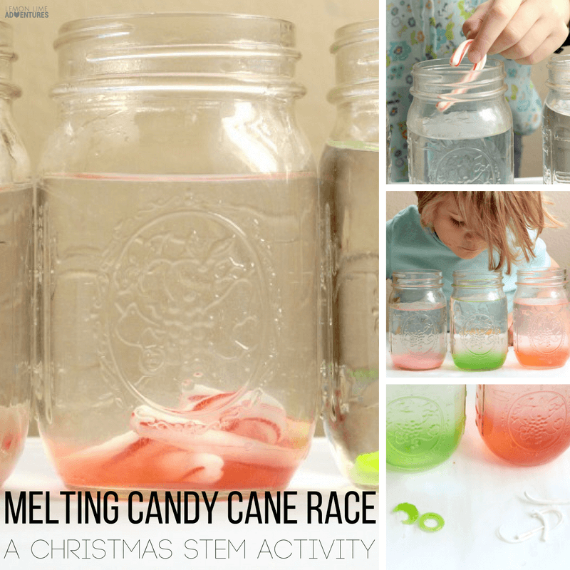 Love science? Have tons of leftover candy canes? Kids will love this candy cane science meting race! Kids will have a blast with this one.