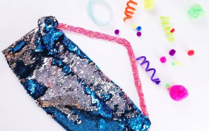 Totally Awesome No-Sew Mermaid Fidget Bag for Kids That Can't Sit Still