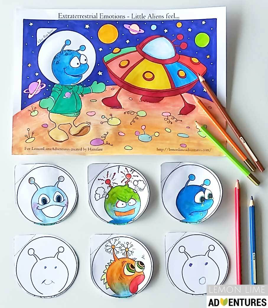 Out of this World Emotions Printable for Kids