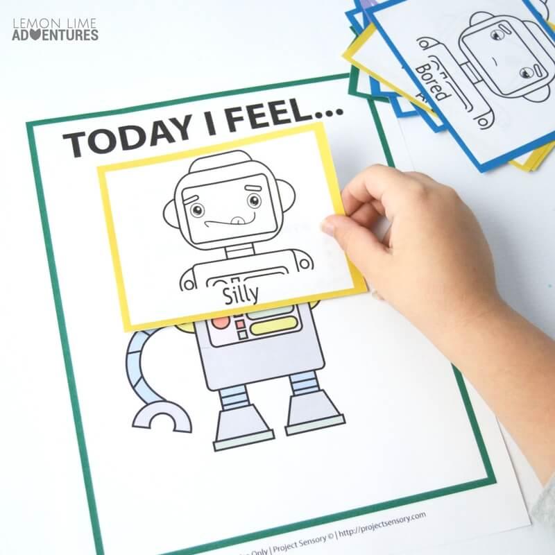 Robot Printable Feelings Game