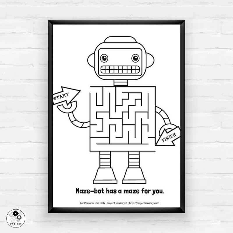 Free Robot Coloring Pages Printable In Love