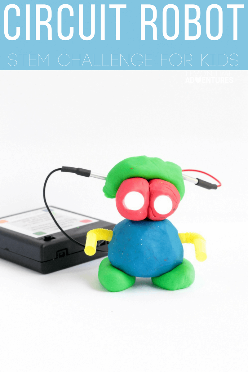 Kids will have such fun making this Squishy Circuits robot that has light-up eyes! A fun STEM project for robot-loving kids!