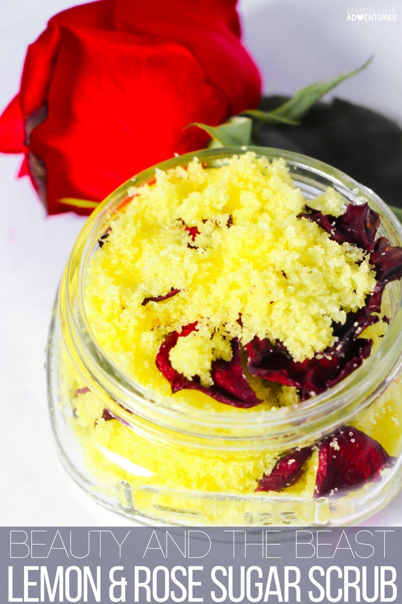 How to make this totally awesome Beauty and the Beast sugar scrub!