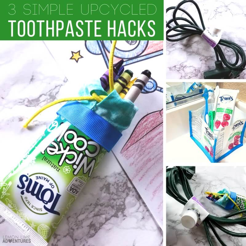Simple Upcycled Projects and Toothpaste Container Hacks