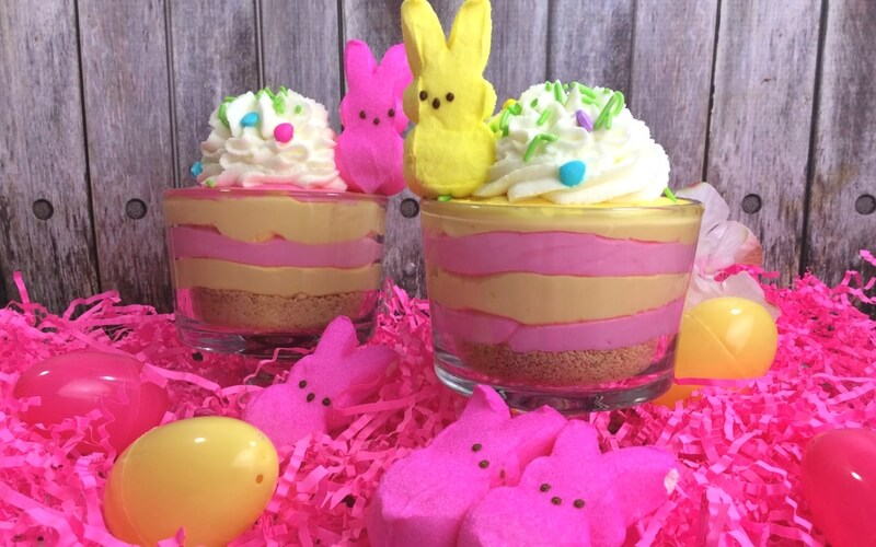 Totally Delicious Peeps Cheesecake Easter Dessert
