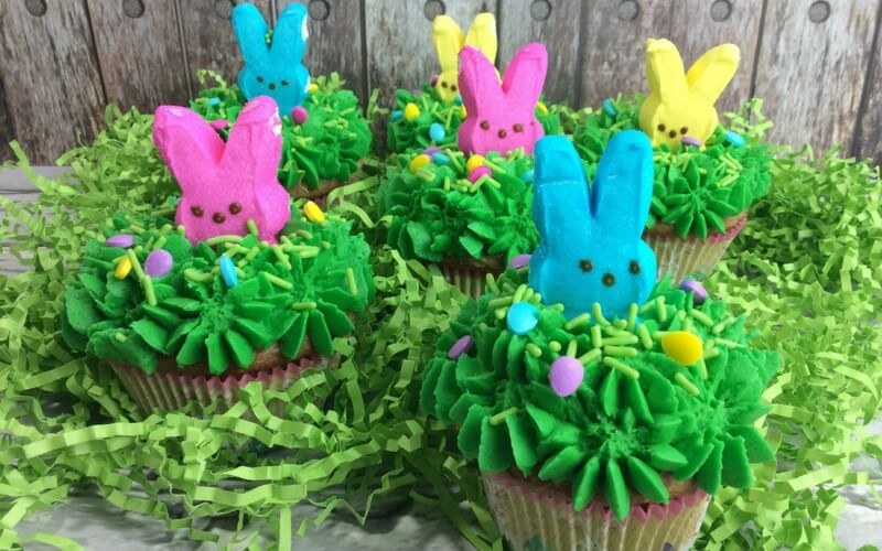 Totally Delicious Peeps Cupcakes for Easter