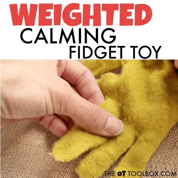 weighted fidget toy for proprioceptive input