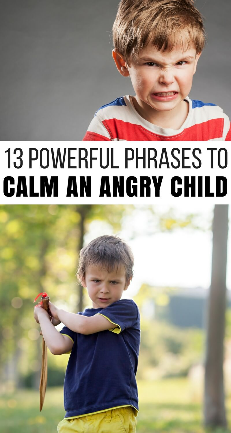 13 Powerful Phrases to Calm an Angry Child (With a Free Printable!)