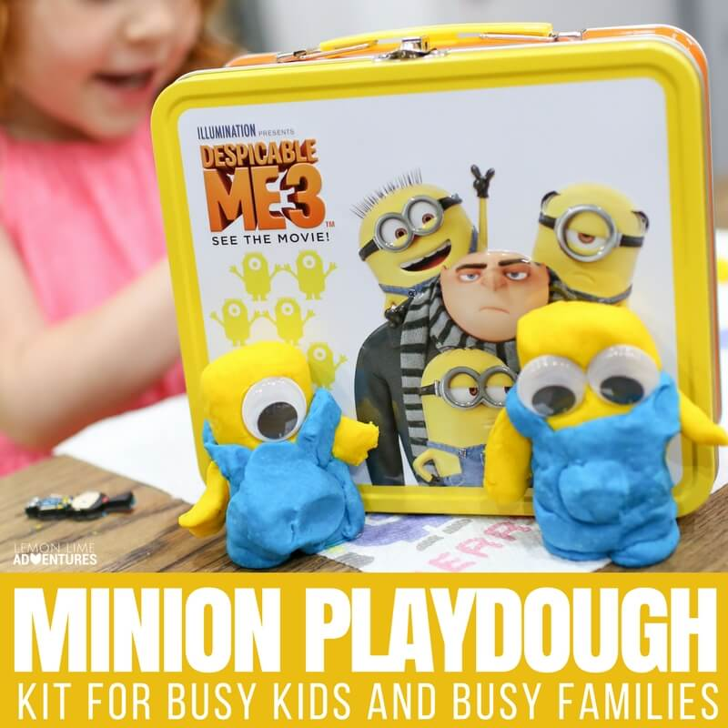 Minion Playdough Kit for Busy Families and Busy Kids
