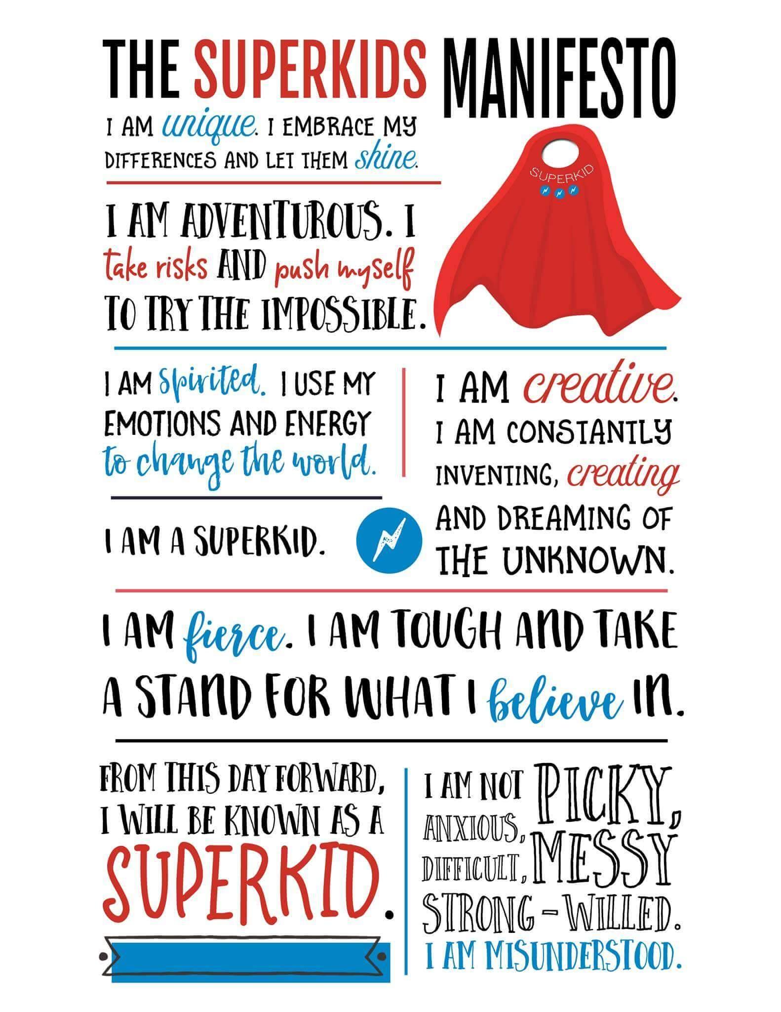 Superkids Manifesto