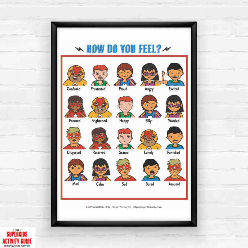 Superhero Feelings Chart Printable