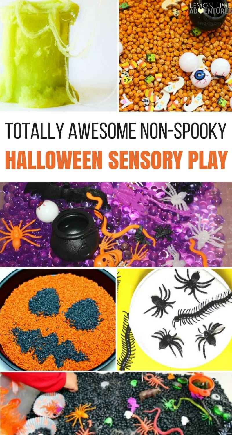 Totally Awesome Non-Spooky Halloween Sensory Play Ideas for Kids