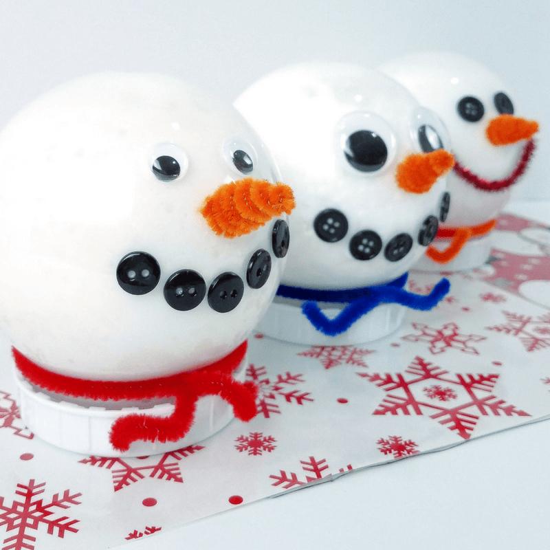 Snowman Slime- 3 Simple snow slime recipes