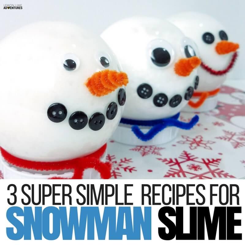 Simple Snowman Slime Recipes